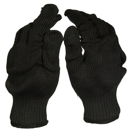 A Pair Black Anti Cutting Gloves Stainless Steel Wire Cut Resistant Safety Breathable Protective Metal Mesh Work Glove for Cutting and Slicing Black - image 5 de 7