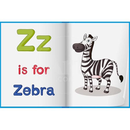 Worksheet Teaching a Letter and Word with Picture Print Wall Art By interactimages ()