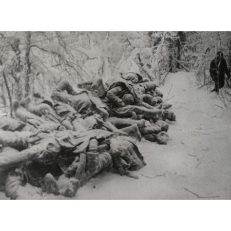 Frozen Bodies Of Dead Soviet Soldiers Killed In The Russo-Finnish War Ca Nov 1939-March 1940 World War 2