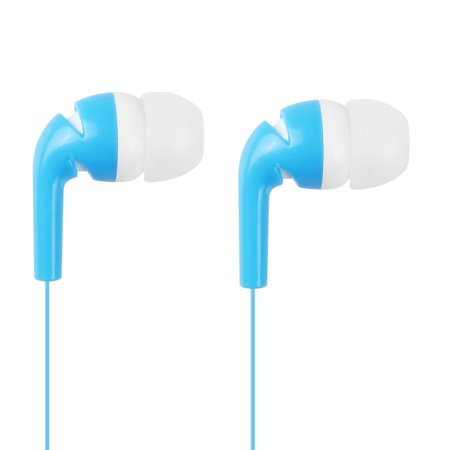 Stylish In-Ear Stereo Earphone Earbud Headphone for iPod iPhone MP3 MP4 Smartphone Blue & -