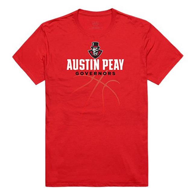 W Republic Apparel 510-105-R58-01 Austin Peay State University Basketball Tee for Men, Red - Small - image 1 of 1