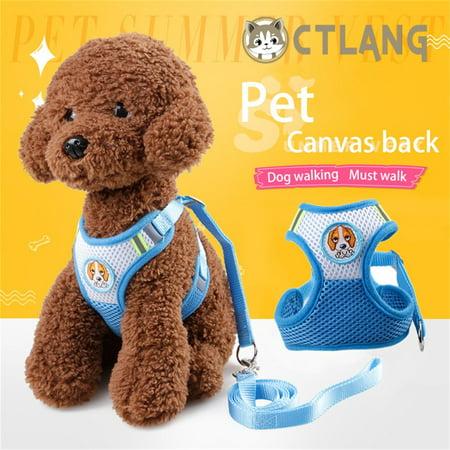 Safe Traction Belt Mesh Dog Harness Walk Collar Vest Breathable Chest Strap
