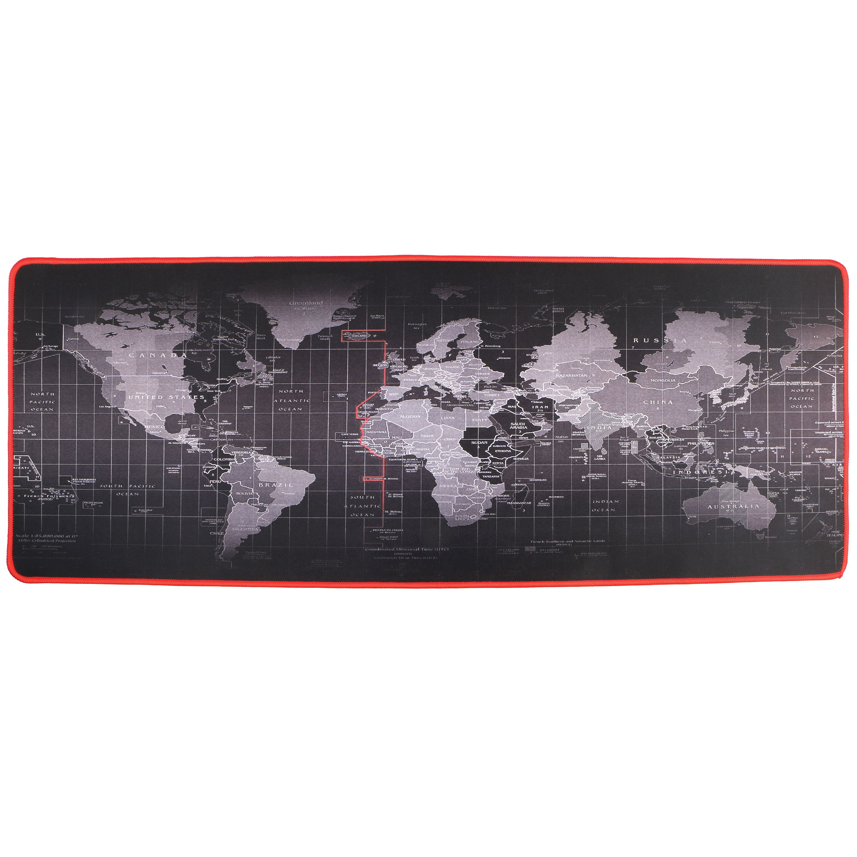 TSV Large Rubber Game Overwatch Mouse pad Gaming keyboard mousepad 80*30cm L XL Special Treated Textured Weave with Precision Control (world map)