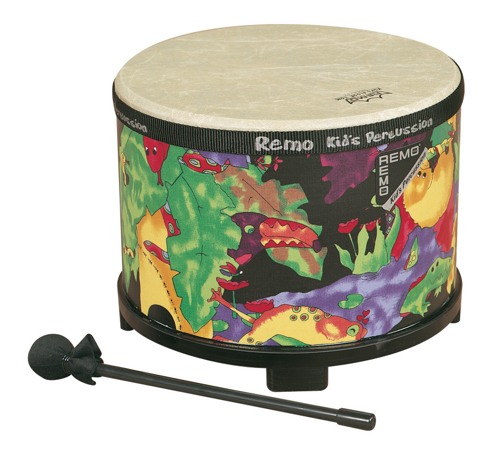 """Kids Percussion Floor Tom Drum Comfort Sound Technology Rain Forest, 10"""" by Remo Inc."""
