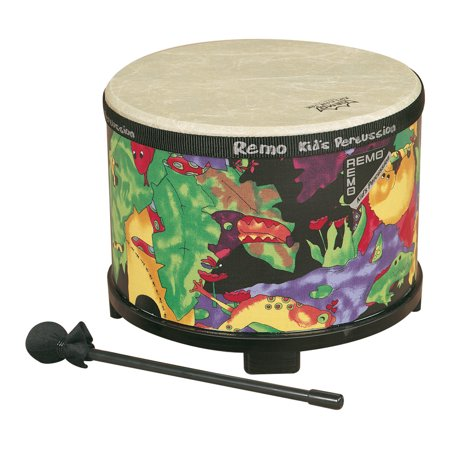 Kids Percussion® Floor Tom Drum Comfort Sound Technology® - Rain Forest, 10""