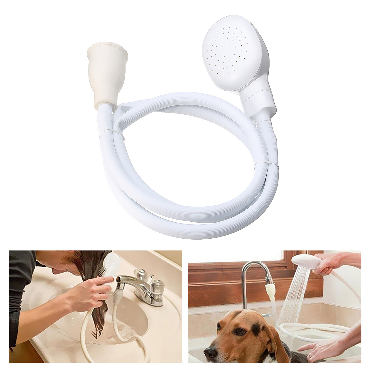 Handheld Sink Shower Head Spray Drains Strainer Pet Bath Hose Sink Washing Hair Pet Dog Hair Wash