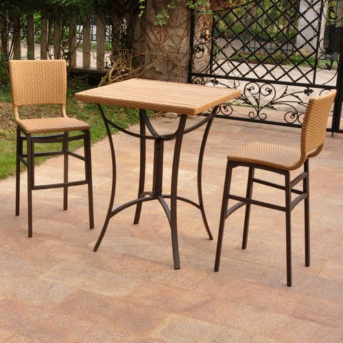 Brayden Studio Katzer 3 Piece Bar Height Dining Set