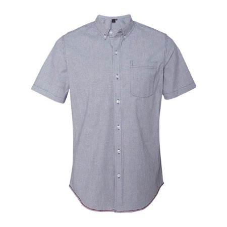 Burnside Men's Stretch-Stripe Short Sleeve Dress Shirt, Style 9259 ()