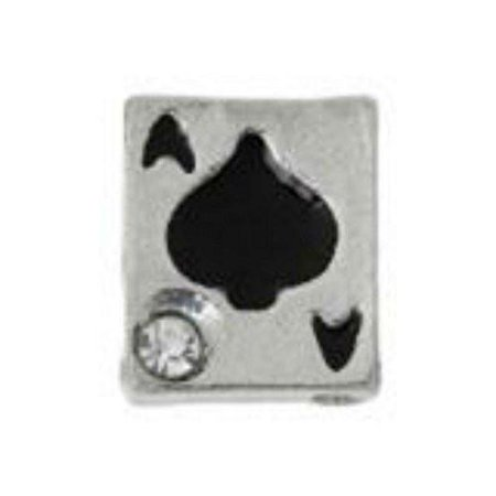 Beautiful Poker Ace Card Floating Charms For Glass Living Memory Locket