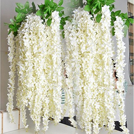 E joy 36 feet artificial wisteria vine ratta silk hanging flower e joy 36 feet artificial wisteria vine ratta silk hanging flower wedding decor 24 junglespirit Image collections
