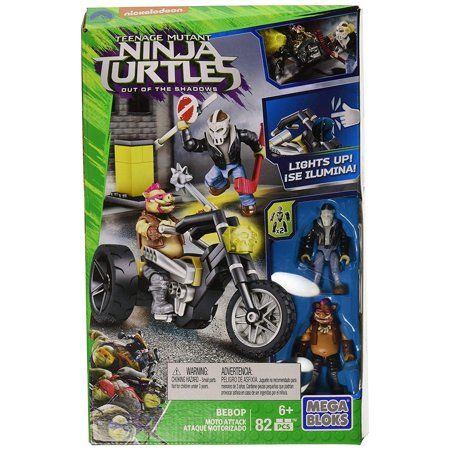 Mega Bloks Teenange Mutant Ninja Turtles Bebop Moto Attack Building Set