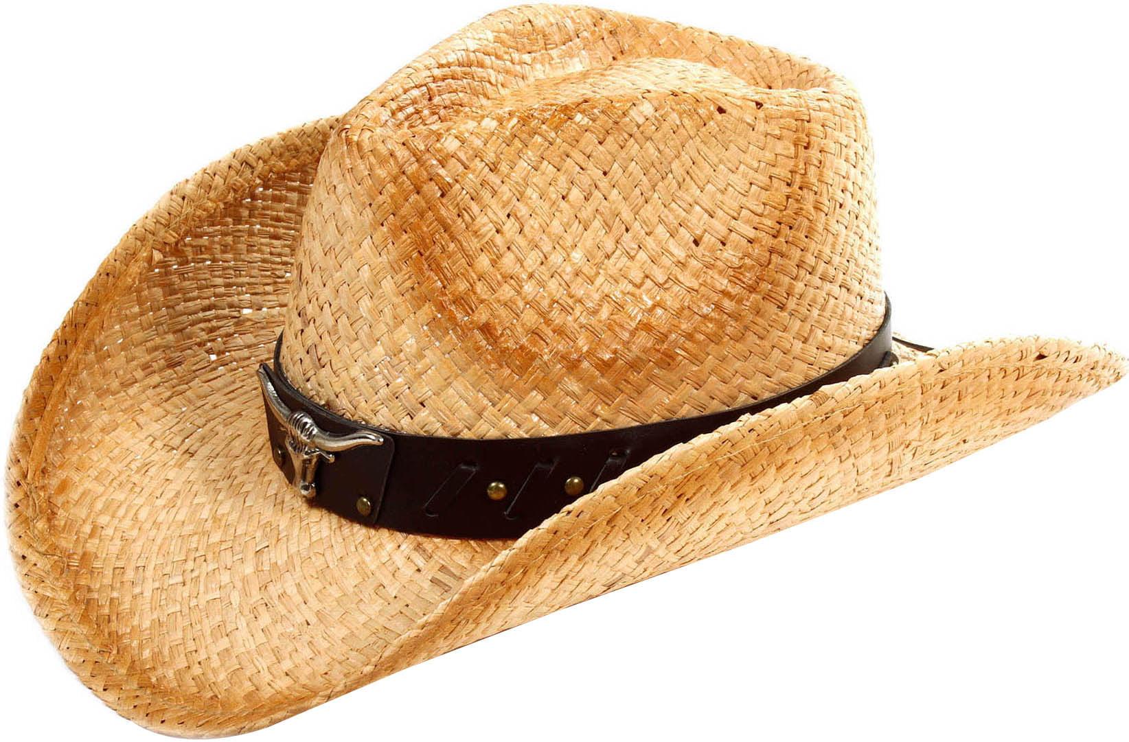 Woemn Men Cowboy Summer Cool Straw Hats Cap