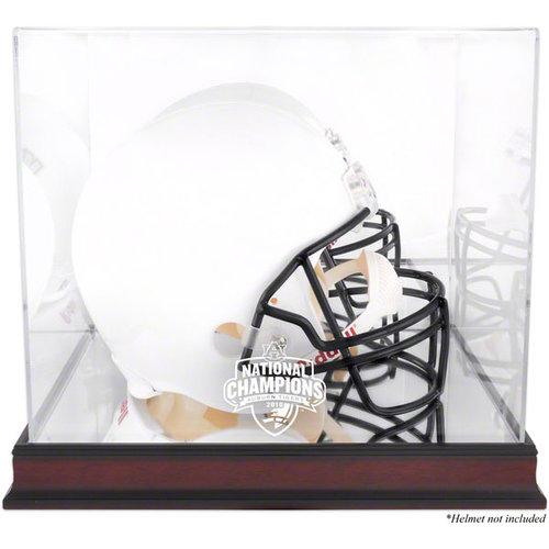 NCAA - 2010 BCS Champion Auburn Tigers Mahogany Helmet Display Case