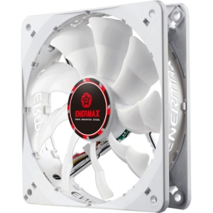 Enermax CLUSTER Advance UCCLA12P 120mm White LED PWM Case Fan - 1 x 120 mm - 1800 rpm - Twister Bearing