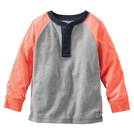 a6edbbcb2 50%OFF Carter's OshKosh B'gosh Toddler Clothing Outfit Little Boys  Colorblock Raglan Henley Long Sleeve