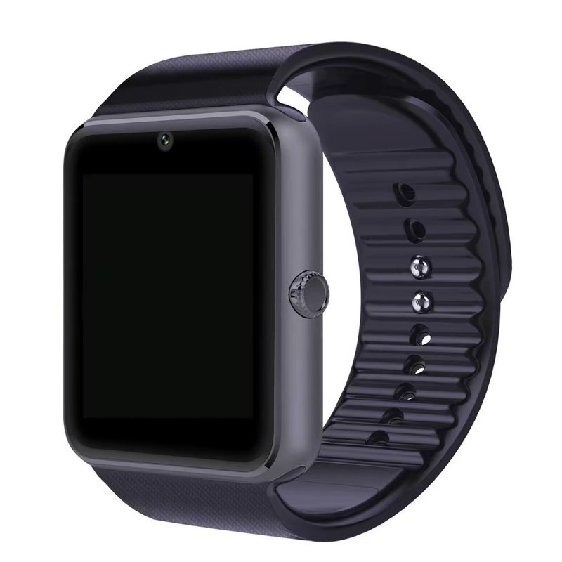 VicTsing GT08 Full Touch Control Smart Watch Remote Phone Pedometer Call Reminder Bluetooth3.0 with SIM Card Slot (Black)