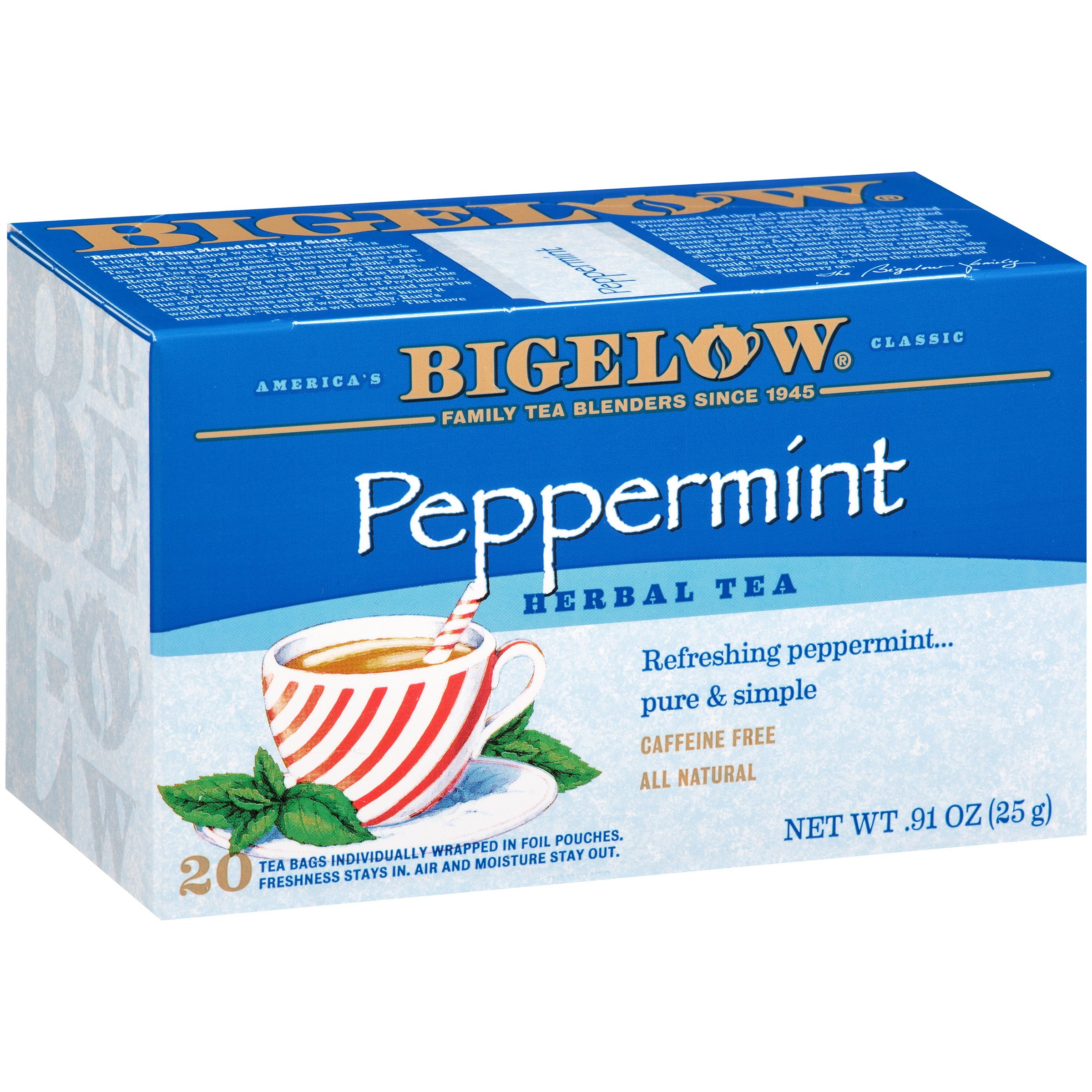 Bigelow Peppermint All Natural Caffeine Free Herb Tea Bags, 20 count by RC Bigelow, Inc.©