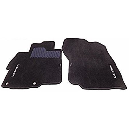 Mitsubishi Genuine Floor Mat Set of 4 Charcoal MZ360257EX Lancer Without Rear Heater Ducts 2008 2009 2010 2011 2012 2013 2014 2015 2016 (Mitsubishi Front Mat)