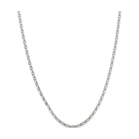 925 Sterling Silver 3.2mm Oval Rolo Necklace - image 5 of 5