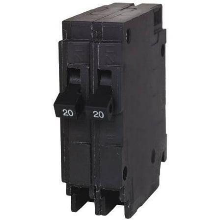 QT PLUG IN TWIN BREAKER 2 INDEPENDENT 1 POLE 20 AMP  per 2 Each (1 Amp Plug In)