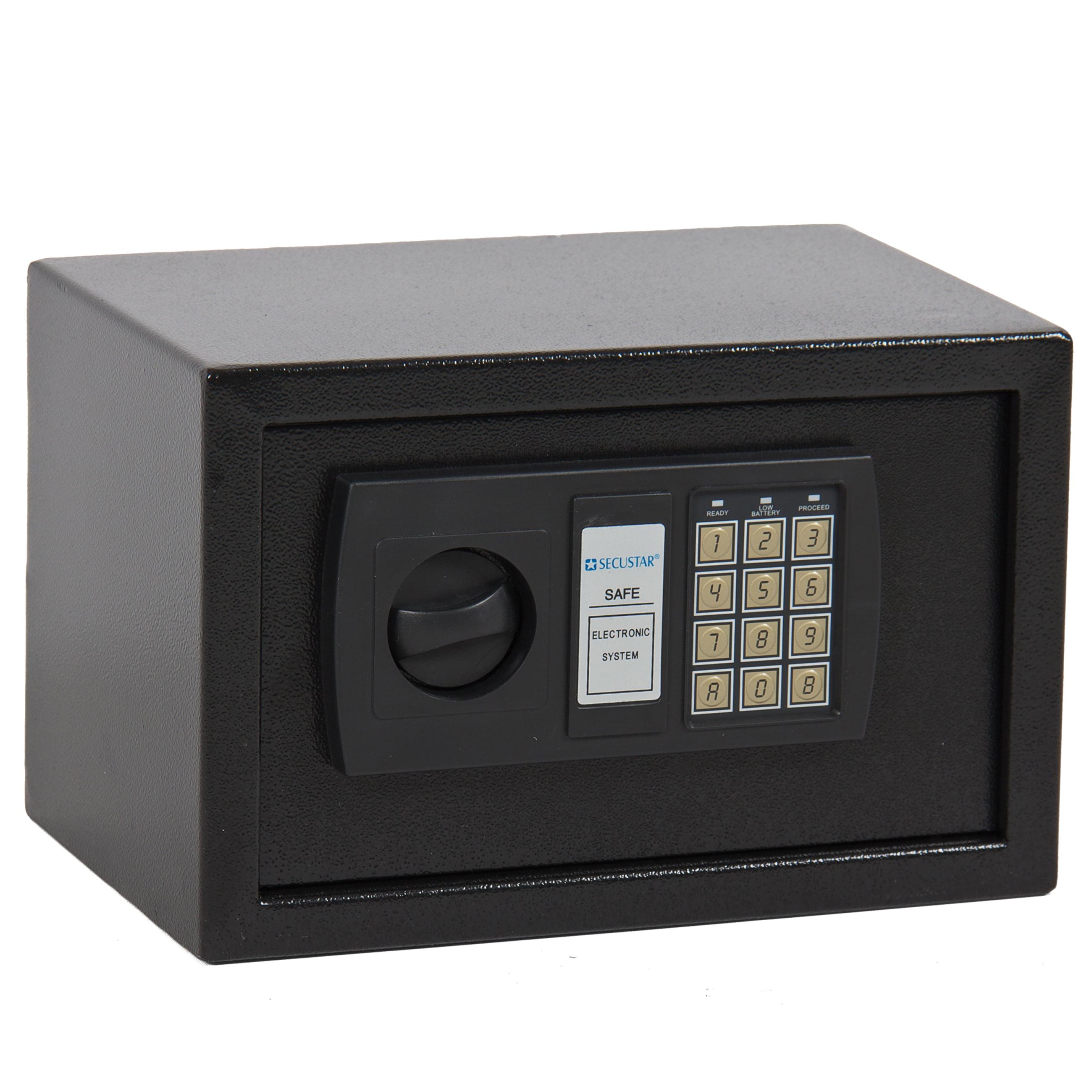 0.3CF Electronic Digital Lock Keypad Safe Box Home Security Gun Cash Jewel  Black - Walmart.com