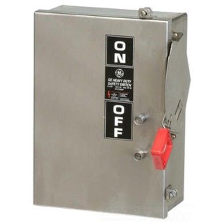 - General Electric GE THN3361SS 30 Amp 600v 3Ph Non Fusible Heavy Duty Safety Switch Disconnect Non Fused