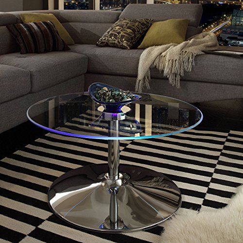 iNSPIRE Q Lorin Cocktail Table Modern LED Accent Table Modern by Overstock