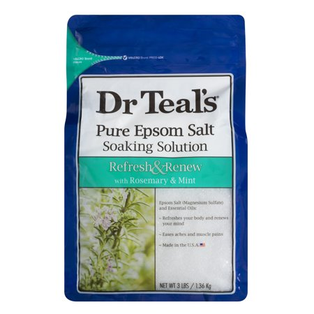 Dr Teals Refresh   Renew With Rosemary   Mint Epsom Salt  3 Lb