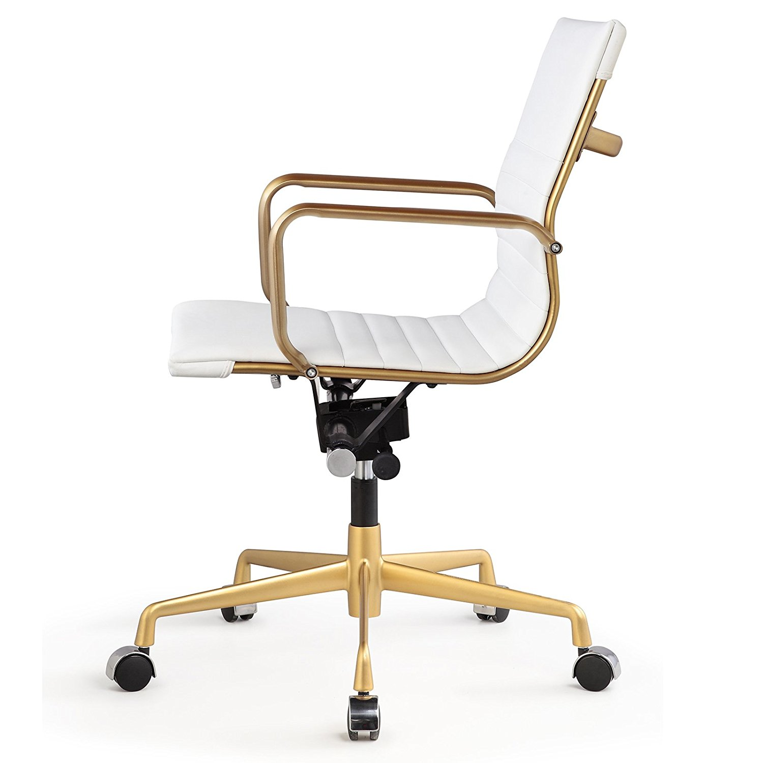 Meelano M348 Office Chair In Gold And White Vegan Leather Walmartcom