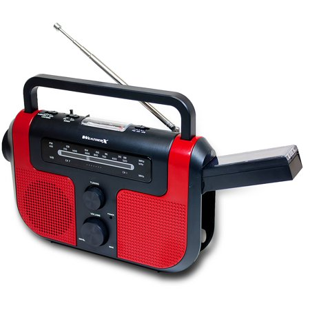 Weather X Weatherband  Battery Powered Am/Fm Radio with Flashlight and Solar Charging Panel, WR383R