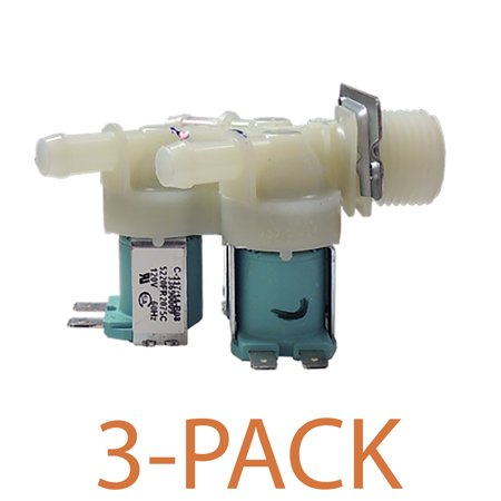 Supco WV2075C, Washing Machine Water Valve for LG, AP4444447, 5220FR2075C (3-Pack) Brand new Supco WV2075C, washing machine water valve replaces LG Appliances, 5220FR2075C.
