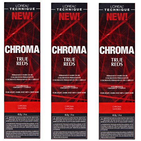 - L'Oreal True Reds Chroma Sangria Permanent Hair Color Tint HC-22916 (3 Pack)