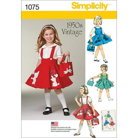 Simplicity Childs' Size 3-8 Jumper, Skirt & Bag Pattern , 1 Each