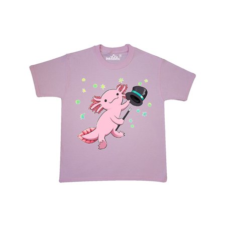 Cute Dancing Axolotl with top hat and cane Youth T-Shirt ()