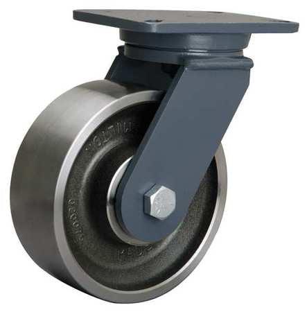 HAMILTON Plate Caster,Swivel,Forged Steel,8 in.,4000 lb,A, S-CH-83FSB