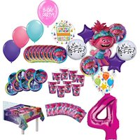 Trolls World Tour Party Supplies Birthday 8 Guest Table Decorations and Poppy Balloon Bouquet