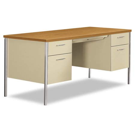 HON 34000 Series Double Pedestal Desk, 60w x 30d x 29 1/2h, - Hon 10500 Series Wood