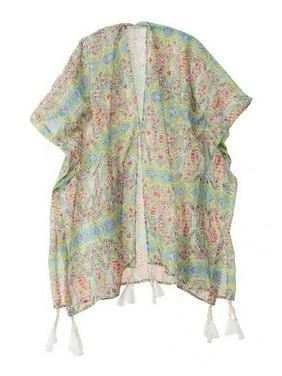 Azul Girls Multi Free Spirits Tassel Adorned Kinomo Cover-Up 12/14
