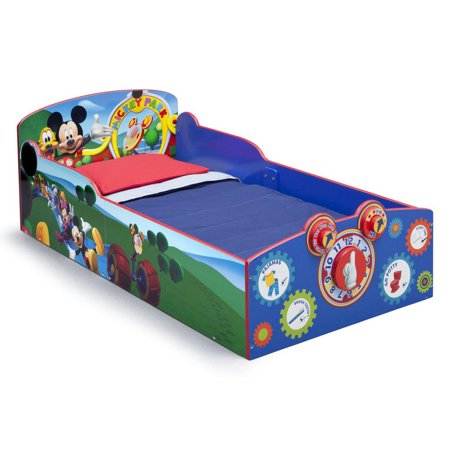 Diamond Mickey Mouse - Delta Children Mickey Mouse Interactive Wood Toddler Bed Kids Bedroom Furniture