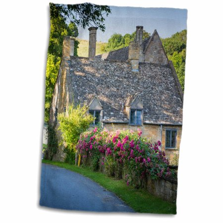 Cottage Towel - 3dRose Cottage, Gloucestershire, Great Britain. - Towel, 15 by 22-inch