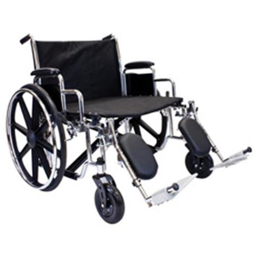 Roscoe Medical W7HD28S Extra Wide Bariatric Wheelchair, Chrome finish