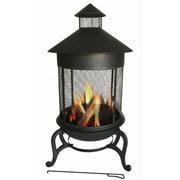 essential d cor & beyond, inc metal wood burning pagoda