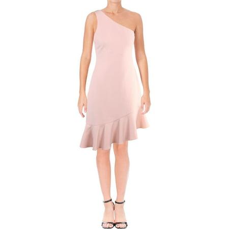 Jaya Apparel Womens Stella One Shoulder Ruffle Cocktail Dress