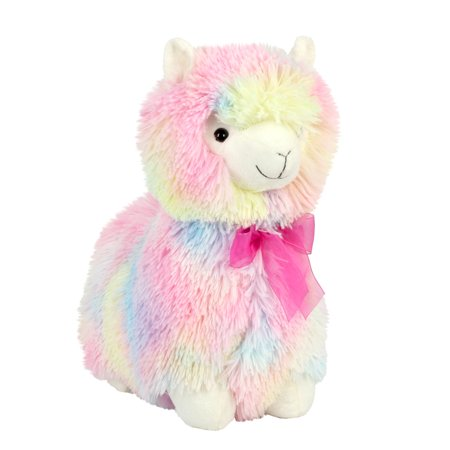 Way to Celebrate 18 inch Standing Rainbow Llama Plush