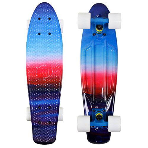 Mayhem Penny Style Skateboard (Prism w white Trucks) by Mayhem