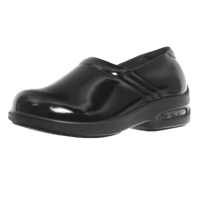 Shoes for Crews Size Women's Air Clog Leather Shoes 9071 Size Crews 8 Black 3e57a5