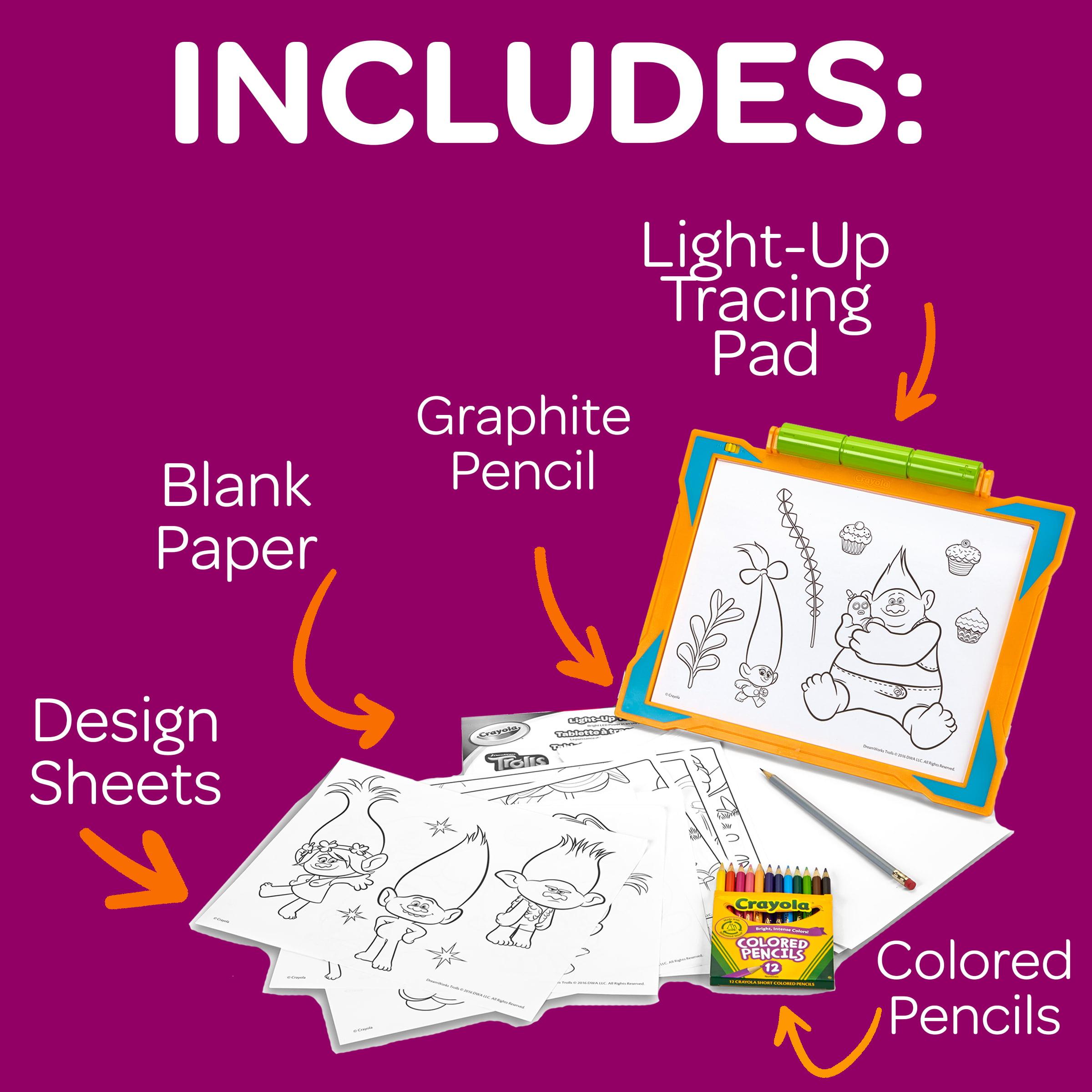 Crayola Trolls Light Up Tracing Pad Gift Toys For Kids Ages 6 Walmart Com Walmart Com