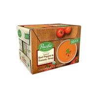 Pacific Foods Organic Creamy Roasted Red Pepper and Tomato Soup, 8 fl oz, 12 count