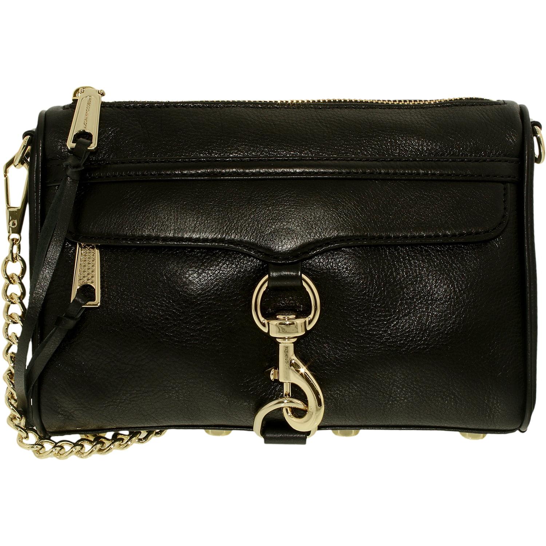 Rebecca Minkoff Women S Mini Mac Leather Convertible Crossbody Bag Cross Body Black