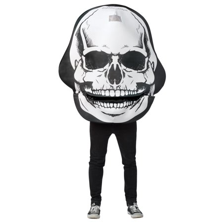 Skull Mouth Head Men's Adult Halloween Costume, One Size, (40-46)